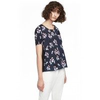 French Connection Eva Pleat Top